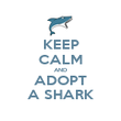 KEEP CALM AND ADOPT A SHARK - Personalised Poster large