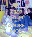 KEEP CALM AND ADORE MION - Personalised Poster large
