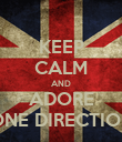 KEEP CALM AND ADORE ONE DIRECTION - Personalised Poster large