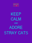 KEEP CALM AND ADORE STRAY CATS - Personalised Poster large
