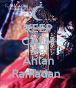 KEEP CALM AND Ahlan Ramadan  - Personalised Poster large