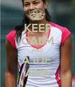 KEEP CALM AND AJDE  ANA - Personalised Poster large