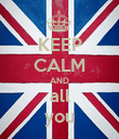KEEP CALM AND all you - Personalised Poster large