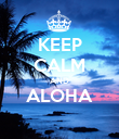 KEEP CALM AND ALOHA  - Personalised Poster large