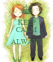 KEEP CALM AND ALWAYS  - Personalised Poster large