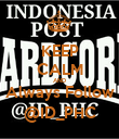 KEEP CALM AND Always Follow @ID_PHC - Personalised Poster large