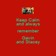 Keep Calm and always remember Gavin and Stacey - Personalised Poster large