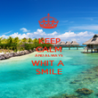 KEEP CALM AND ALWAYS WHIT A  SMILE - Personalised Poster large