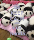 KEEP CALM AND ama  i panda  - Personalised Poster large