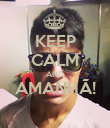 KEEP CALM AND AMANHÃ!  - Personalised Poster large