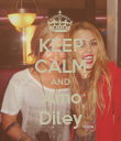 KEEP CALM AND Amo Diley - Personalised Poster large