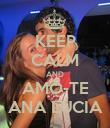 KEEP CALM AND AMO-TE ANA LÚCIA - Personalised Poster large