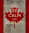 KEEP CALM AND AMPLIFY  - Personalised Poster large