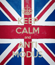 KEEP CALM and ANTI MODUS - Personalised Poster large