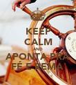 KEEP CALM AND APONTA PRA FÉ E REMA  - Personalised Poster large