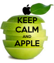 KEEP CALM AND APPLE  - Personalised Poster small