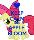 KEEP CALM AND APPLE  BLOOM - Personalised Poster large
