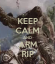 KEEP CALM AND ARM RIP - Personalised Poster large