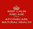 KEEP CALM AND ASK ERIN @ APOTHECARE NATURAL HEALTH - Personalised Poster large