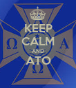 KEEP CALM AND ATO  - Personalised Poster large