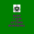 KEEP CALM AND ATTEND BOKSBURG  - Personalised Poster large