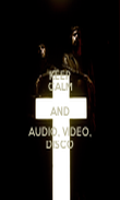 KEEP CALM AND AUDIO, VIDEO, DISCO - Personalised Poster large