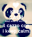 KEEP CALM AND AVETE ROTTO il cazzo con  i keep calm♥ - Personalised Poster large