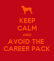 KEEP CALM AND AVOID THE  CAREER PACK - Personalised Poster large
