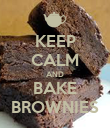 KEEP CALM AND BAKE BROWNIES - Personalised Poster large