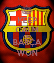 KEEP CALM AND BARÇA WON - Personalised Poster large
