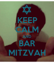 KEEP CALM AND BAR MITZVAH - Personalised Poster large