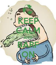KEEP CALM AND BARF ON - Personalised Poster large