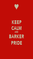 KEEP CALM AND BARKER PRIDE - Personalised Poster large