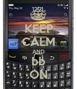 KEEP CALM AND bb ON - Personalised Poster large