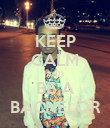 KEEP CALM AND BE A BACHELOR - Personalised Poster large
