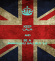 KEEP CALM AND BE A  BRADFORD BAD BOI YO - Personalised Poster large