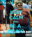 KEEP CALM AND BE A  BRUNO - Personalised Poster large
