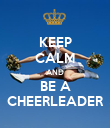 KEEP CALM AND BE A CHEERLEADER - Personalised Poster large
