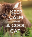 KEEP CALM AND BE A COOL CAT  - Personalised Poster large