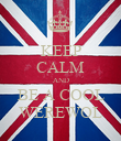 KEEP CALM AND BE A COOL WEREWOL - Personalised Poster large