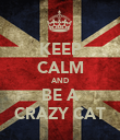 KEEP CALM AND BE A CRAZY CAT - Personalised Poster large