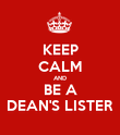 KEEP CALM AND BE A DEAN'S LISTER - Personalised Poster large