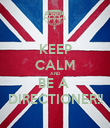 KEEP CALM AND BE A  DIRECTIONER!! - Personalised Poster large