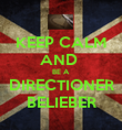 KEEP CALM AND  BE A DIRECTIONER BELIEBER - Personalised Poster large