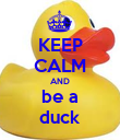 KEEP CALM AND be a duck - Personalised Poster large
