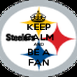KEEP CALM AND BE A FAN - Personalised Poster large