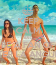 KEEP CALM AND BE A FAN OF PETER LA ANGUILA - Personalised Poster large