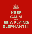 KEEP CALM AND BE A FLYING ELEPHANT!!! - Personalised Poster large