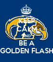 KEEP CALM AND BE A GOLDEN FLASH - Personalised Poster large