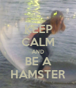 KEEP CALM AND BE A HAMSTER - Personalised Poster large